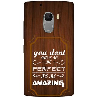 Print Opera Hard Plastic Designer Printed Phone Cover for lenovo a7010-vibek4note You don't have to be perfect to be amazing