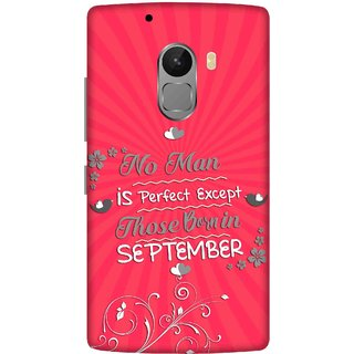 Print Opera Hard Plastic Designer Printed Phone Cover for lenovo a7010-vibek4note Perfect man born in september