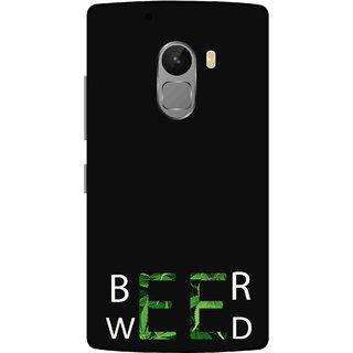 Print Opera Hard Plastic Designer Printed Phone Cover for lenovo a7010-vibek4note Beer weed green