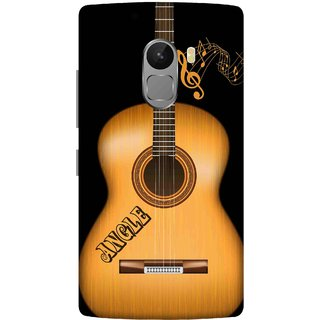 Print Opera Hard Plastic Designer Printed Phone Cover for lenovo a7010-vibek4note Wooden guitar