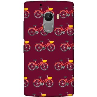 Print Opera Hard Plastic Designer Printed Phone Cover for lenovo a7010-vibek4note Bicycles