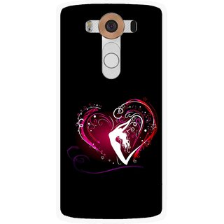 Snooky Printed Lady Heart Mobile Back Cover For Lg V10 - Multi