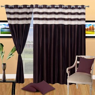 angel homes polyester single curtain for door