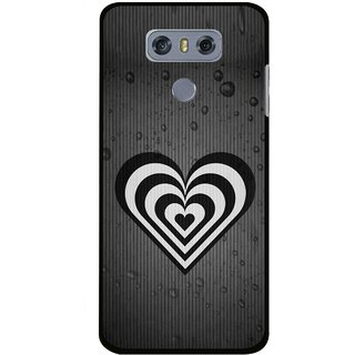 Snooky Printed Hypro Heart Mobile Back Cover For LG G6 - Multi