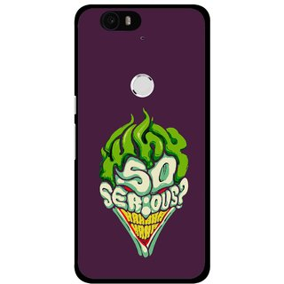 Snooky Printed Serious Mobile Back Cover For Huawei Nexus 6P - Multi