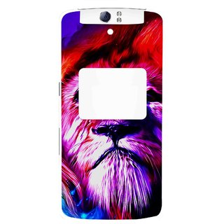 Snooky Printed Freaky Lion Mobile Back Cover For Oppo N1 - Multi