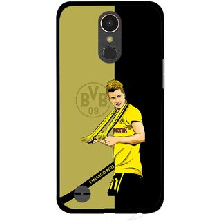Snooky Printed Sports Player Mobile Back Cover For LG K10 2017 - Multi