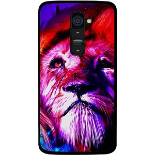 Snooky Printed Freaky Lion Mobile Back Cover For Lg G2 - Multi