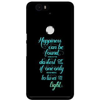 Snooky Printed Everywhere Happiness Mobile Back Cover For Huawei Nexus 6P - Multi