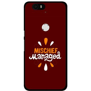 Snooky Printed Mischief Mobile Back Cover For Huawei Nexus 6P - Multi