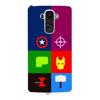 Snooky Printed Multi Heros Mobile Back Cover For Lg G4 Stylus - Multi