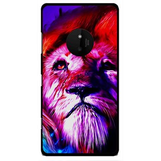 Snooky Printed Freaky Lion Mobile Back Cover For Microsoft Lumia 830 - Multi