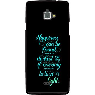 Snooky Printed Everywhere Happiness Mobile Back Cover For Infocus M350 - Multi