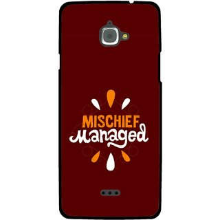 Snooky Printed Mischief Mobile Back Cover For Infocus M350 - Multi