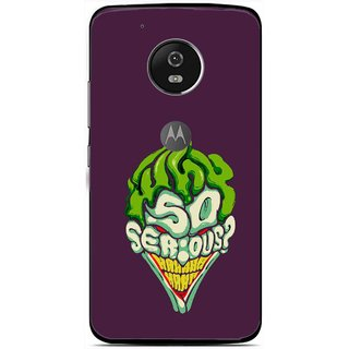 Snooky Printed Serious Mobile Back Cover For Moto G5 - Multi