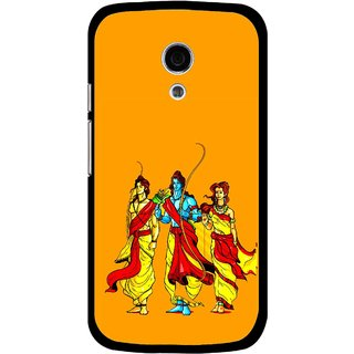 Snooky Printed God Rama Mobile Back Cover For Moto G2 - Multi