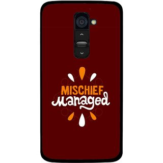 Snooky Printed Mischief Mobile Back Cover For Lg G2 - Multi