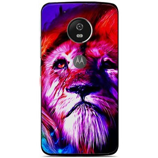 Snooky Printed Freaky Lion Mobile Back Cover For Moto G5 - Multi
