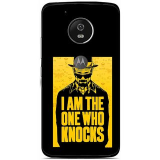 Snooky Printed Who Knocks Mobile Back Cover For Moto G5 - Multi