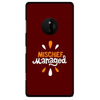Snooky Printed Mischief Mobile Back Cover For Microsoft Lumia 830 - Multi