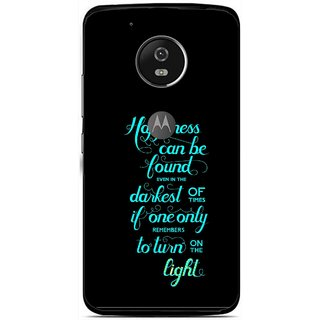 Snooky Printed Everywhere Happiness Mobile Back Cover For Moto G5 - Multi