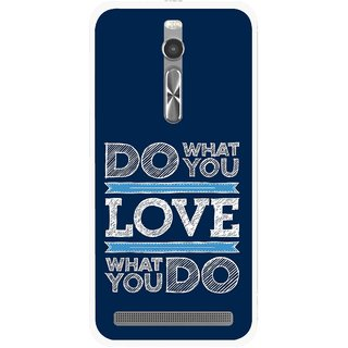 Snooky Printed Love Your Work Mobile Back Cover For Asus Zenfone 2 - Multi