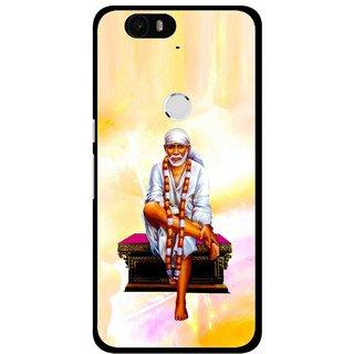 Snooky Printed Sai Baba Mobile Back Cover For Huawei Nexus 6P - Multi