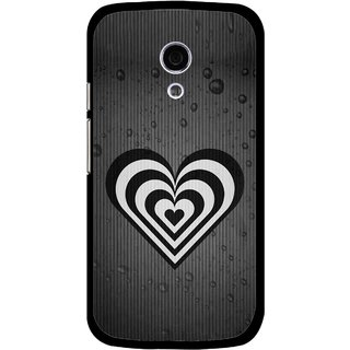 Snooky Printed Hypro Heart Mobile Back Cover For Moto G2 - Multi
