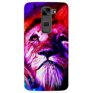 Snooky Printed Freaky Lion Mobile Back Cover For Lg Stylus 2 - Multi