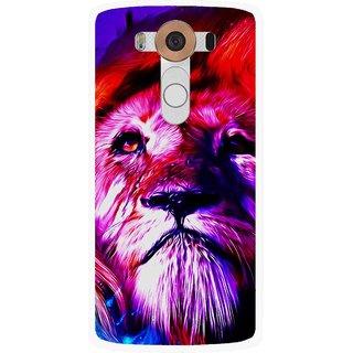 Snooky Printed Freaky Lion Mobile Back Cover For Lg V10 - Multi