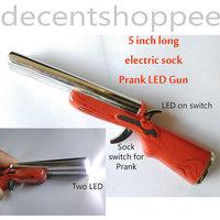 5 Inch Long Electric Shock Prank Gun, LED Torch with 2 LEDs, Sock Prank, Fun