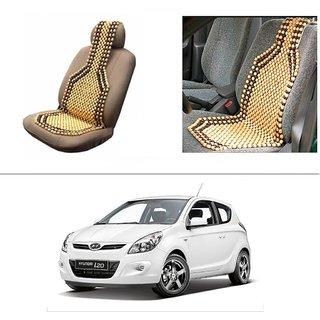 Autostark Car Acupressure Wooden Bead Seat Set Of 1 Hyundai I20