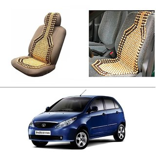 AutoStark Car Acupressure Wooden Bead Seat Set Of 1-Tata Indica Vista