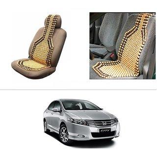 AutoStark Car Acupressure Wooden Bead Seat Set Of 1-Honda City ZX