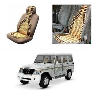 AutoStark Car Acupressure Wooden Bead Seat Set Of 1-Mahindra Bolero