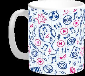 Designer Custom Printed Ceramic Coffee and Tea Mugs from Print Opera - Music