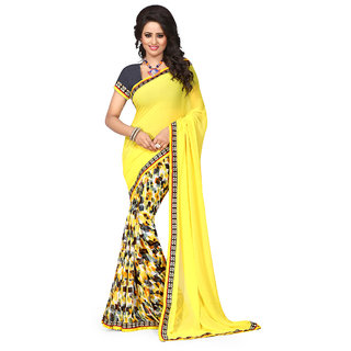 Glamorous Women Clothing Saree in Latest Design Wear Sarees Collection in Georgette Material Latest Saree with Blouse piece