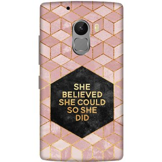 Print Opera Hard Plastic Designer Printed Phone Cover for lenovo a7010-vibek4note She believed she could so she did