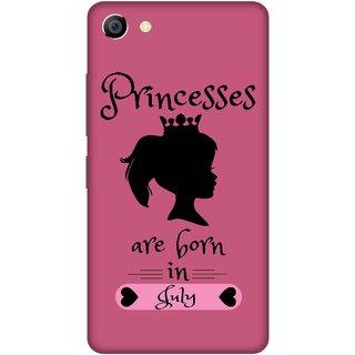 Print Opera Hard Plastic Designer Printed Phone Cover for vivo x7plus Princess are born in july