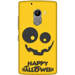 Print Opera Hard Plastic Designer Printed Phone Cover for lenovo a7010-vibek4note Happy halloween in black and yellow