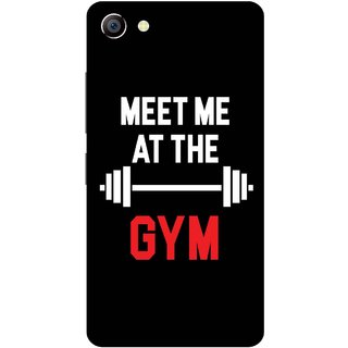 Print Opera Hard Plastic Designer Printed Phone Cover for vivo x7plus Meet me at the gym with black background