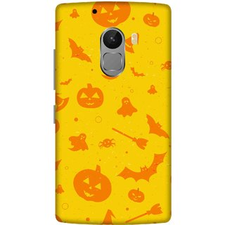 Print Opera Hard Plastic Designer Printed Phone Cover for lenovo a7010-vibek4note Yellow and orange halloween texture