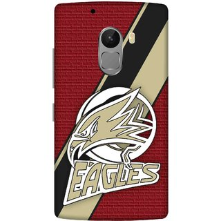 Print Opera Hard Plastic Designer Printed Phone Cover for lenovo a7010-vibek4note Eagles with red background