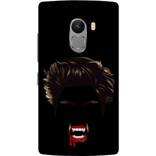Print Opera Hard Plastic Designer Printed Phone Cover for lenovo a7010-vibek4note Bloody vampire face black background