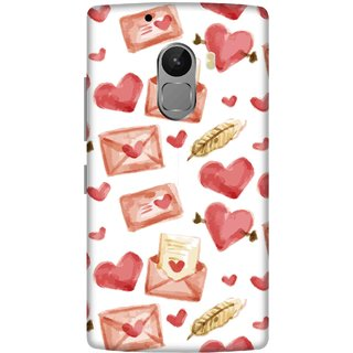 Print Opera Hard Plastic Designer Printed Phone Cover for lenovo a7010-vibek4note Hearts with envolops