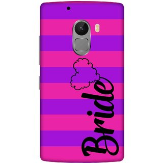 Print Opera Hard Plastic Designer Printed Phone Cover for lenovo a7010-vibek4note Bride written with heart shape
