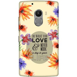 Print Opera Hard Plastic Designer Printed Phone Cover for lenovo a7010-vibek4note Do what you love and youll never work floral