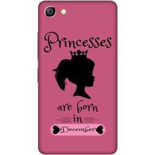 Print Opera Hard Plastic Designer Printed Phone Cover for vivo x7plus Princess are born in december