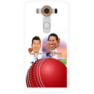Snooky Printed Play Cricket Mobile Back Cover For Lg V10 - Multi
