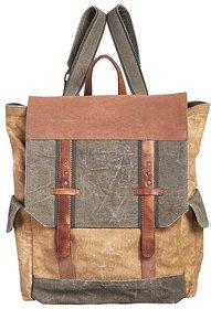 Mona B  Up-Cycled  Canvas Bag  sebastian  backpack bag Size12w x 16H x 6D